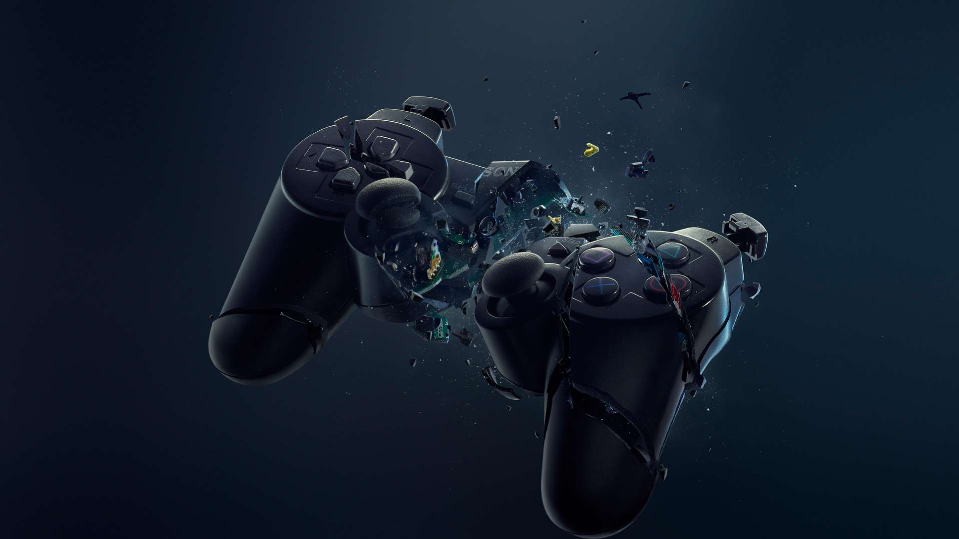 broken-playstation-3-controller-hd-wallpaper